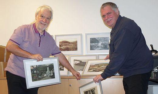 Friedrich Zwitkovits (l.) und Peter Schlagbauer mit den Bildern
