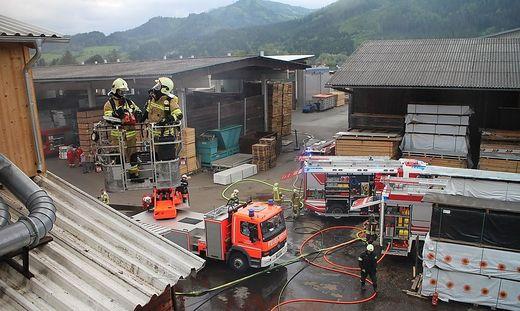 Fünf Feuerwehren waren im Einsatz