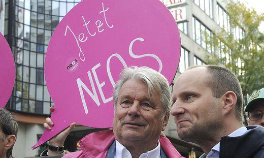 Hans Peter Haselsteiner unterstützt Neos-Bundeschef Matthias Strolz seit der Gründung der Partei