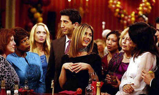 """Die Kult-Sitcom """"Friends"""", Bildmitte Jennifer Aniston, wird fortgesetzt"""