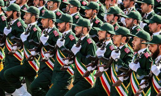 Die iranischen Revolutionsgarden bei einer Militärparade im September 2018.