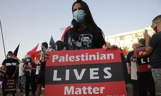 Auch in Israel selbst kam es zu Solidaritätsbekundungen mit den Palästinensern