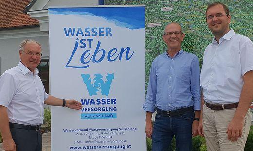 Für den WVL: Obmann Josef Ober, Geschäftsführer Franz Glanz und technischer Leiter Franz Friedl
