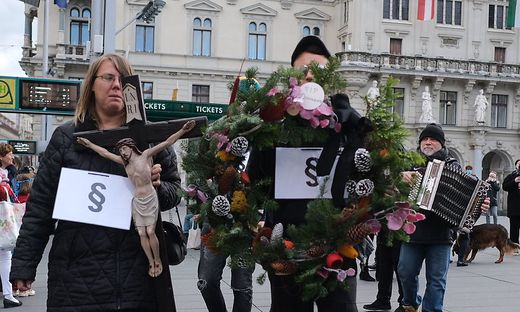 Protestmarsch in Graz