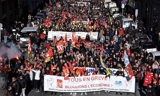 Franzosen wehren sich gegen eine Pensionsreform