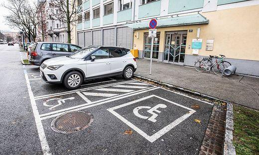 Behindertenparkplätze in Klagenfurt