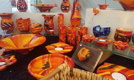 Unter anderem gibt es Sachen aus Keramik zu kaufen