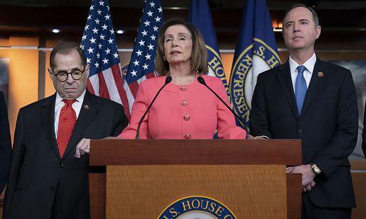 Nancy Pelosi, Jerrold Nadler, Adam Schiff
