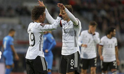 Jubel bei der deutschen Nationalmannschaft