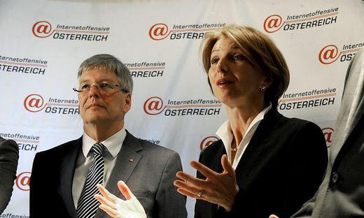 Kärntens Finanzlandesrätin Gabriele Schaunig mit Landeshauptmann Peter Kaiser (beide SPÖ)