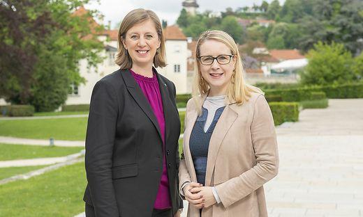 Landesrätin Barbara Eibinger-Miedl und Wirtschaftsministerin Margarete Schramböck