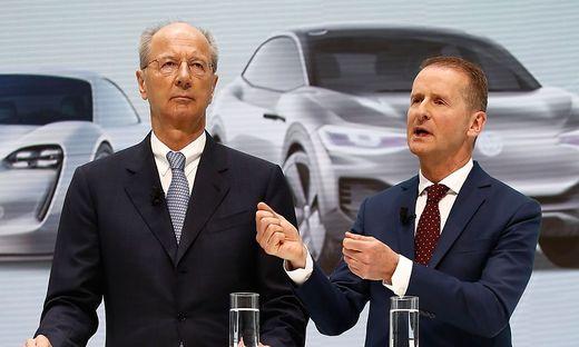 VW-Vorstandschef Herbert Diess und Chefaufseher Hans Dieter Pötsch