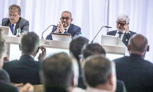 Die Kelag-Hauptversammlung unter Vorsitz von Aufsichtsratschef Goilbert Isep (l.) entlastete die Vorstände Armin Wiersma und Manfred Freitag einstimmig