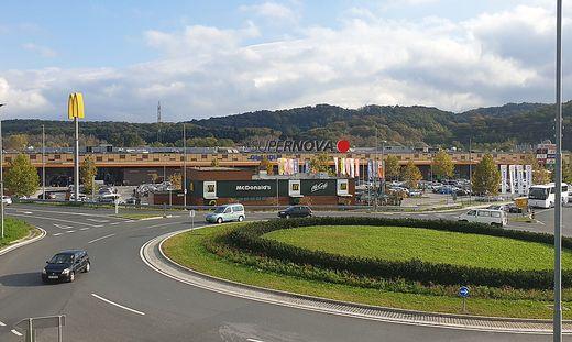 Das Einkaufszentrum in Nova Gorica