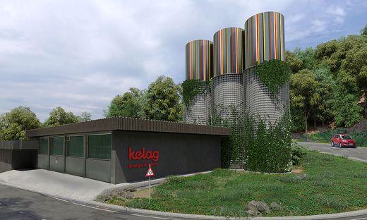 So soll der neue Wärmespeicher in Villach Warmbad aussehen; er deckt den Wärmebedarf von 1000 Wohnungen ab