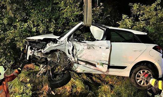 Bergung eines Unfallautos