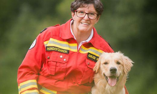 Helga Gruze aus Liebenfels ist seit Beginn ihrer Pension bei der Rettungshundebrigade