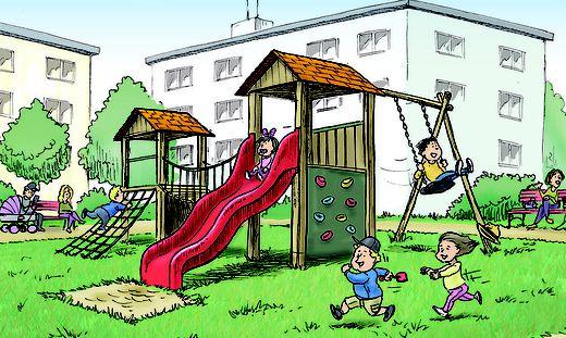 Kinder können nicht in Ruhe spielen, wenn nicht alle Eigentümer einverstanden sind