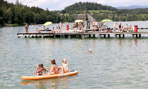 Die Badesaison 2021, hier der Längsee im Vorjahr, kann starten