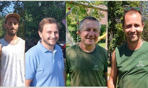 Sie sind Lebensretter: Christian Kreuzmann, Philipp Landgraf, Jan Bieniek und Juraj Lajtman (von links)