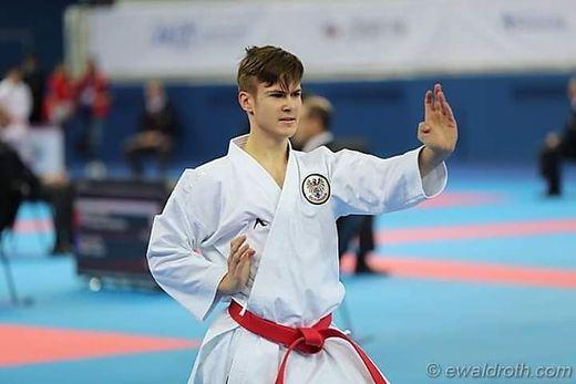 Hannes Köstenbaumer bei einem seiner Kämpfe bei der EM im russischen Sotschi