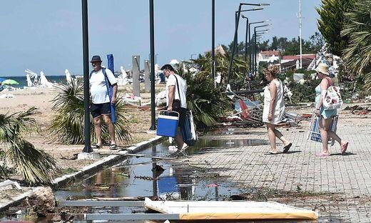 Touristen in Chalkidiki