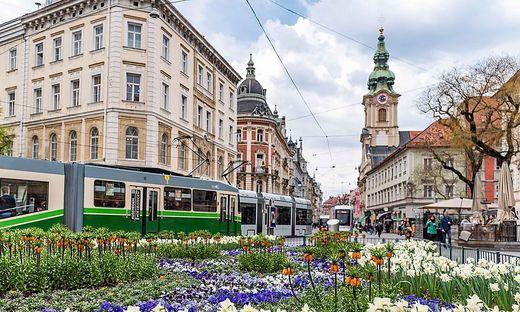 Grazer Straßenbahn Herrengasse