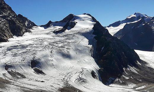 Durch den geplanten Gletscherskigebiet-Zusammenschluss Ötztal/Pitztal bedroht: der Gipfel des linken Fernerkogels