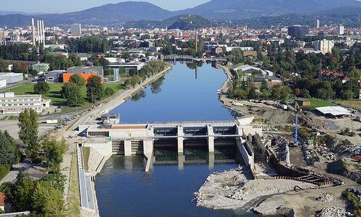 Das Murkraftwerk in Graz