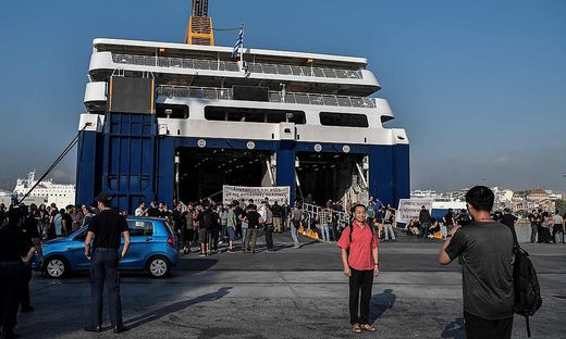 GREECE-LABOUR-SEAMEN-STRIKE