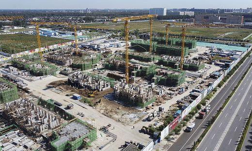 Zahlreiche Bauprojekte von Evergrande stehen vor einer fraglichen Zukunft