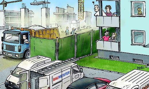 Baulärm stellt eine erhebliche Einbuße der Wohnqualität dar