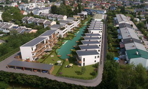 So soll der Seepark im Osten Klagenfurts ab 2021 aussehen