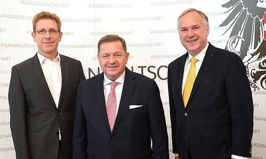 Volksanwälte: Bernhard Achitz, Werner Amon und Walter Rosenkranz