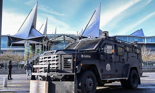 Sicherung am Gericht in Antwerpen