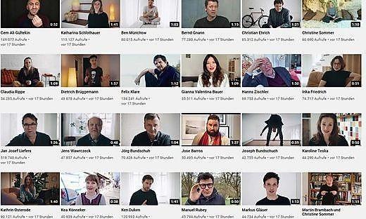 53 Videos umfasst die AKtion #allesdichtmachen auf Youtube