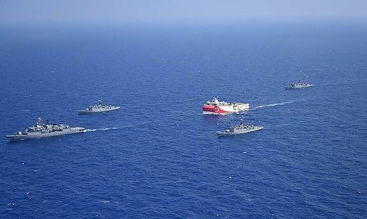 Die Türkei sucht nach Erdgas in Gewässern, die Griechenland für sich beansprucht