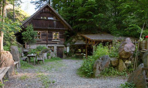 Die Strutz-Mühle am Schwarzbach in der