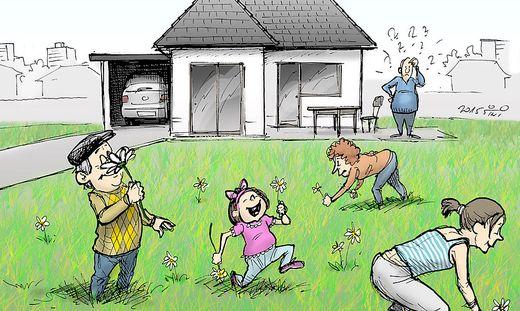 Betretungsverbot: Eine Blumenwiese ist kein Wald!