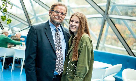 Ignac Jantelji überraschte am Samstag seine Enkelin Anna-Julia