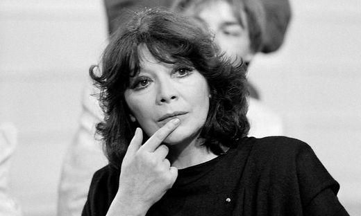Juliette Greco auf einem Foto von 1985