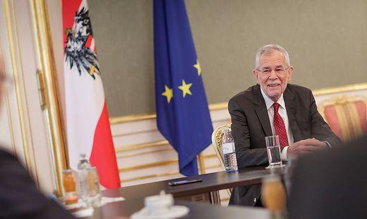 Van der Bellen im Interview in der Hofburg mit der Kleinen Zeitung und den anderen Bundesländerzeitungen