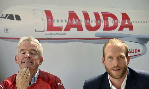 Ryan-Air Chef Ryanair Michael O'Leary und Laudamotion Geschäftsführer Andreas Grube