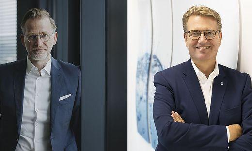 Ingo Hofmann, CEO der Merkur Versicherung, Martin Gräfer, Vorstand die Bayerische