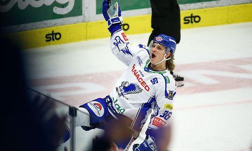 Dem Villacher Toptorschützen Karlsson gelang beim ersten Heimderby im VSV-Dress ein Doppelpack