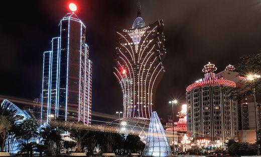 Die Casino-Skyline von Macau