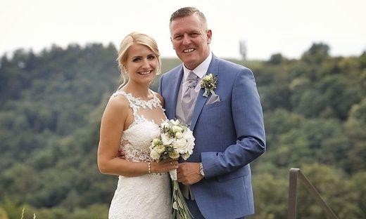 Kunasek und seine Frau bei ihrer Hochzeit in der Südsteiermark