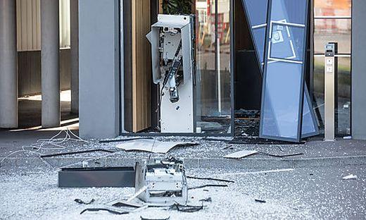 Dieser Bankomat wurde in der Nacht auf Donnerstag in Nußdorf gesprengt
