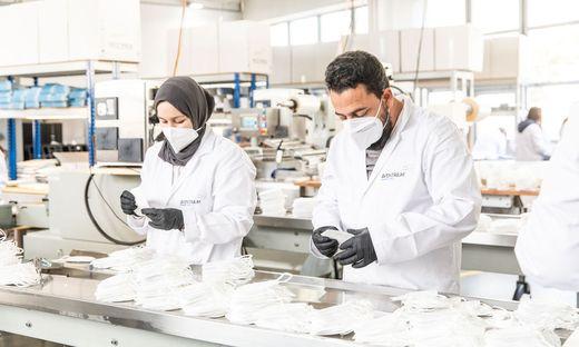 Aventrium ließ in Graz FFP2-Masken produzieren