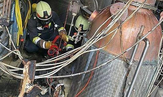 Die Feuerwehren löschten den Brand